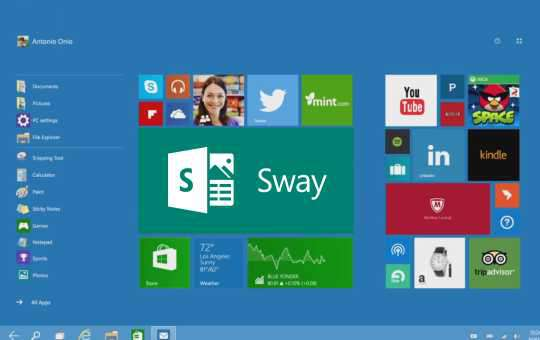 Microsoft Windows 10 introduces Sway App