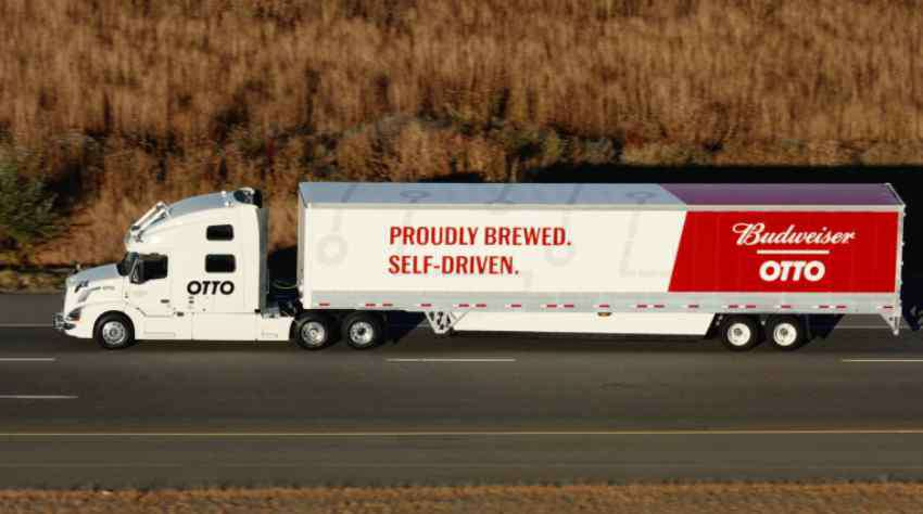 Uber's OTTO Self-Driving Truck Makes Its First Successful Delivery by Transporting 50K Beers - Insights Success