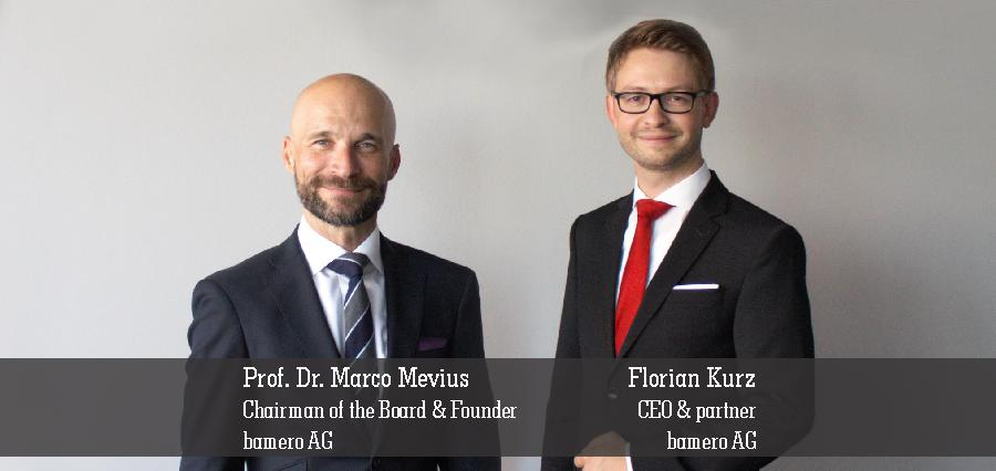 Prof. Dr. Marco Mevius | Chairman of the Board & Founder | Florian Kurz | CEO & Partner | Bamero AG - Insights Success