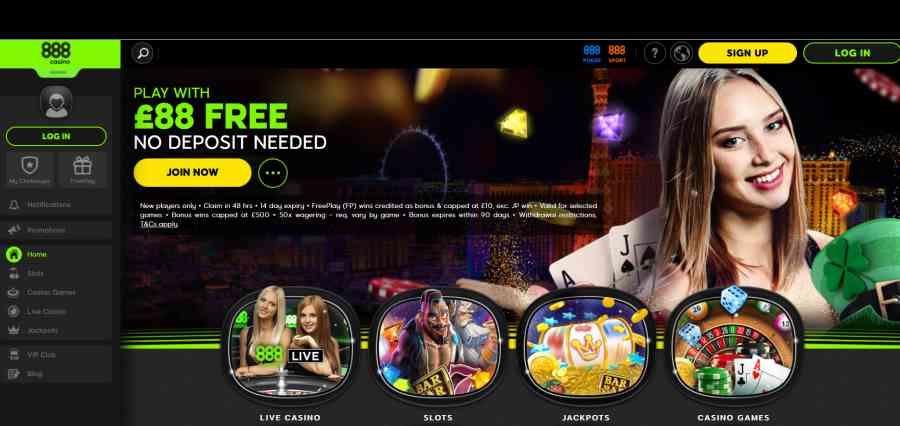 888 Casino has live casino games.