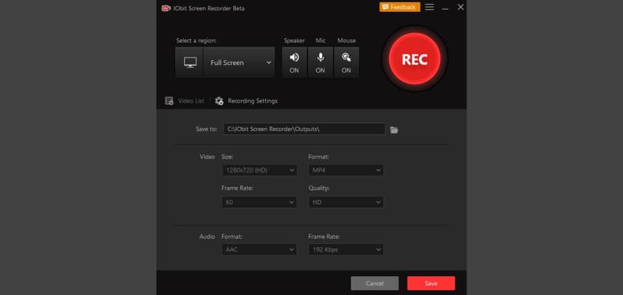 IObit online screen recorder